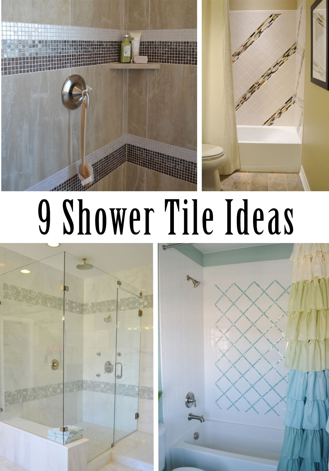 9 Shower Tile Ideas | DIY Home Decor | Pinterest | Tile ideas ...