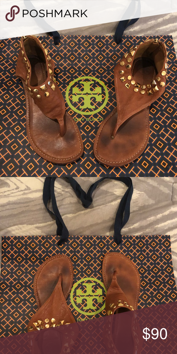 40a98545c78b Tory Burch studded gladiator sandals Tory Burch gladiator sandals. Super  soft leather. Camel color
