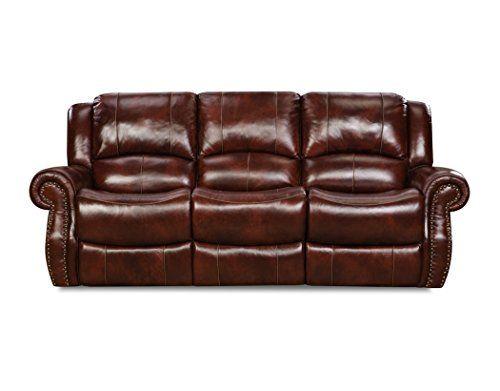 Cambridge 98528DRS-OB Telluride Leather Double Reclining Sofa