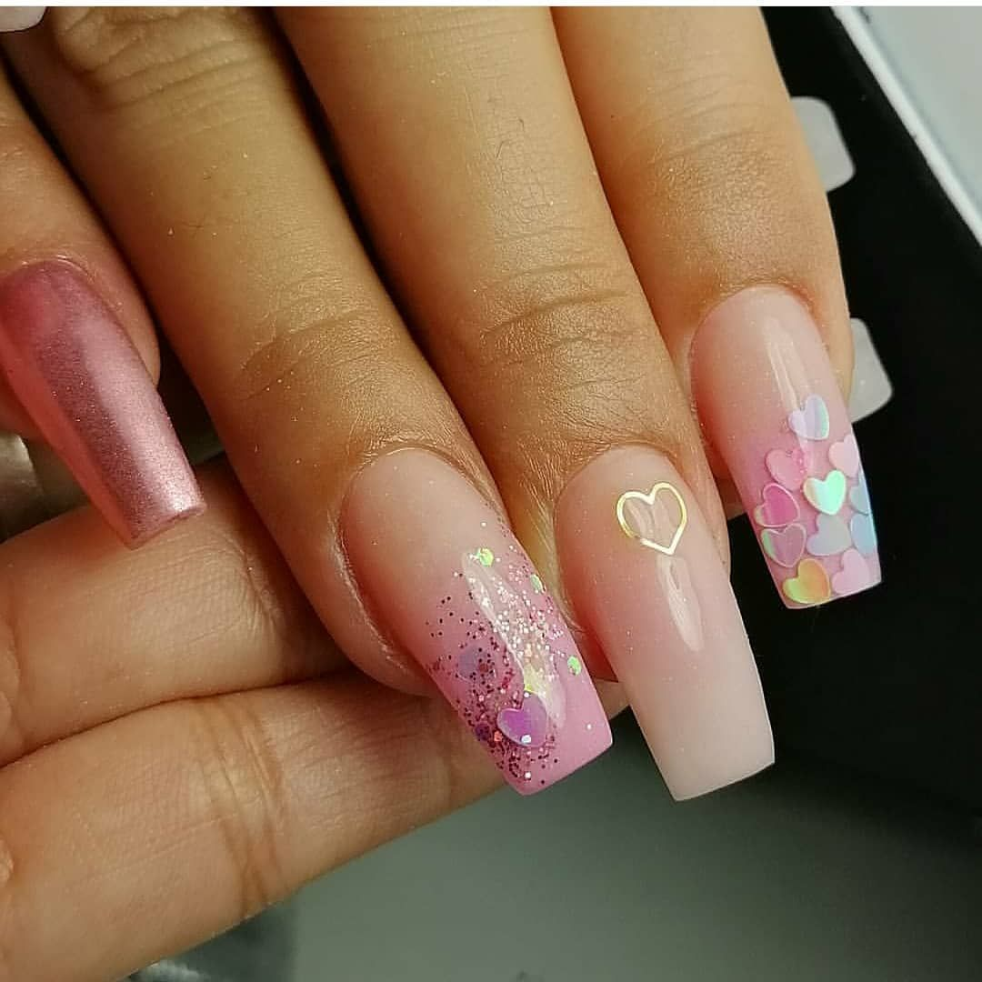 30 Amazing Medium Length Coffin Nails You Must Not Miss In 2020 Page 7 Of 7 Ibaz In 2020 Coffin Nails Square Nail Designs Coffin Nails Designs