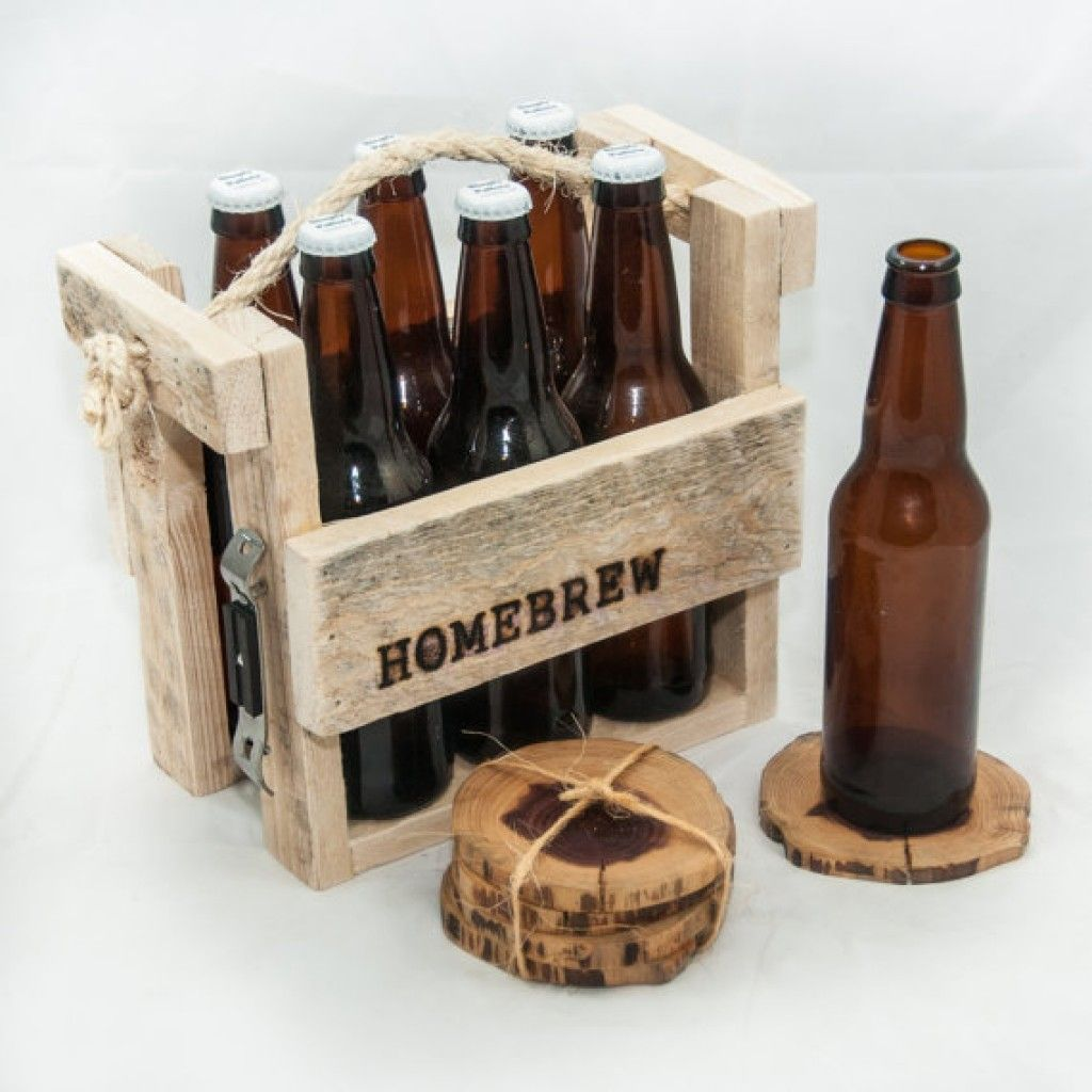 Rustic Six Pack Holder From Recycled Pallet Wood