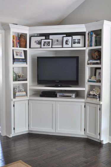 My Corner Built Ins With Images Built In Tv Cabinet Corner Tv