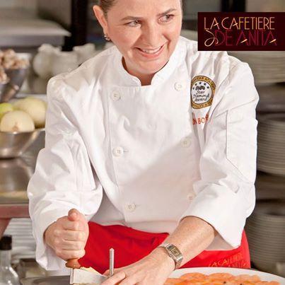"""""""Para mí la cocina es la manera de festejar la vida, de darle sabor a mi deseo de servir a los demás con lo mejor de mi"""", dice Anita Botero, chef Cordon Bleu. #FraseDelDia #AnitaBotero #CordonBleu #LaCafetiereDeAnita"""