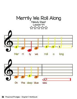 Do Re Mi Hand Signals Merrily We Roll Along Sheet Music Sheet