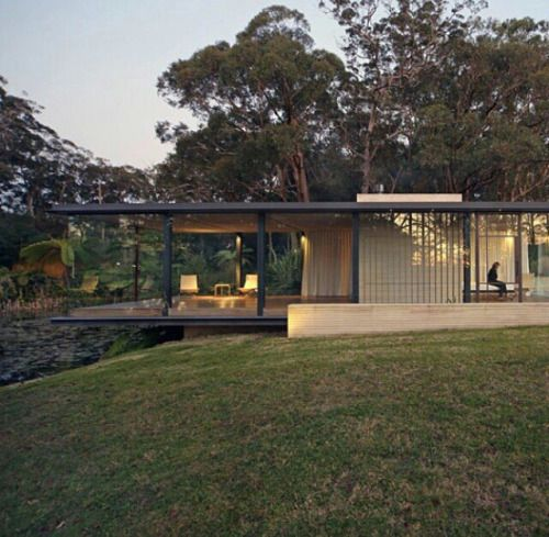 Diseno Casa Bosque: Love The Open Living Space Perched Off The Hill.