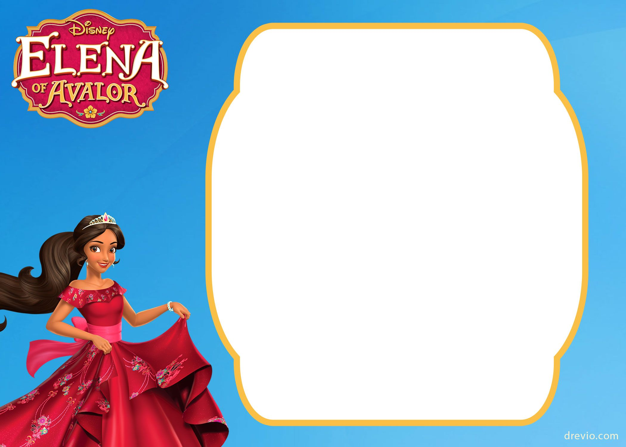 free printable elena of avalor invitation template free printable