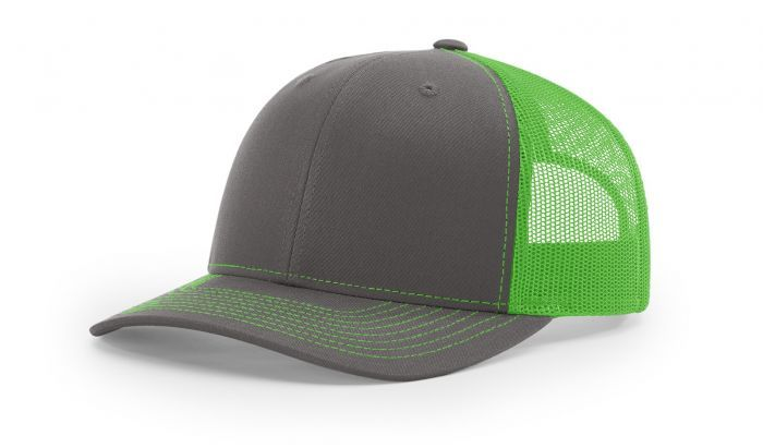 Charcoal Neon Green - 112 Trucker Mesh Snapback Adjustable Hat by  Richardson Caps 0df004d8714b