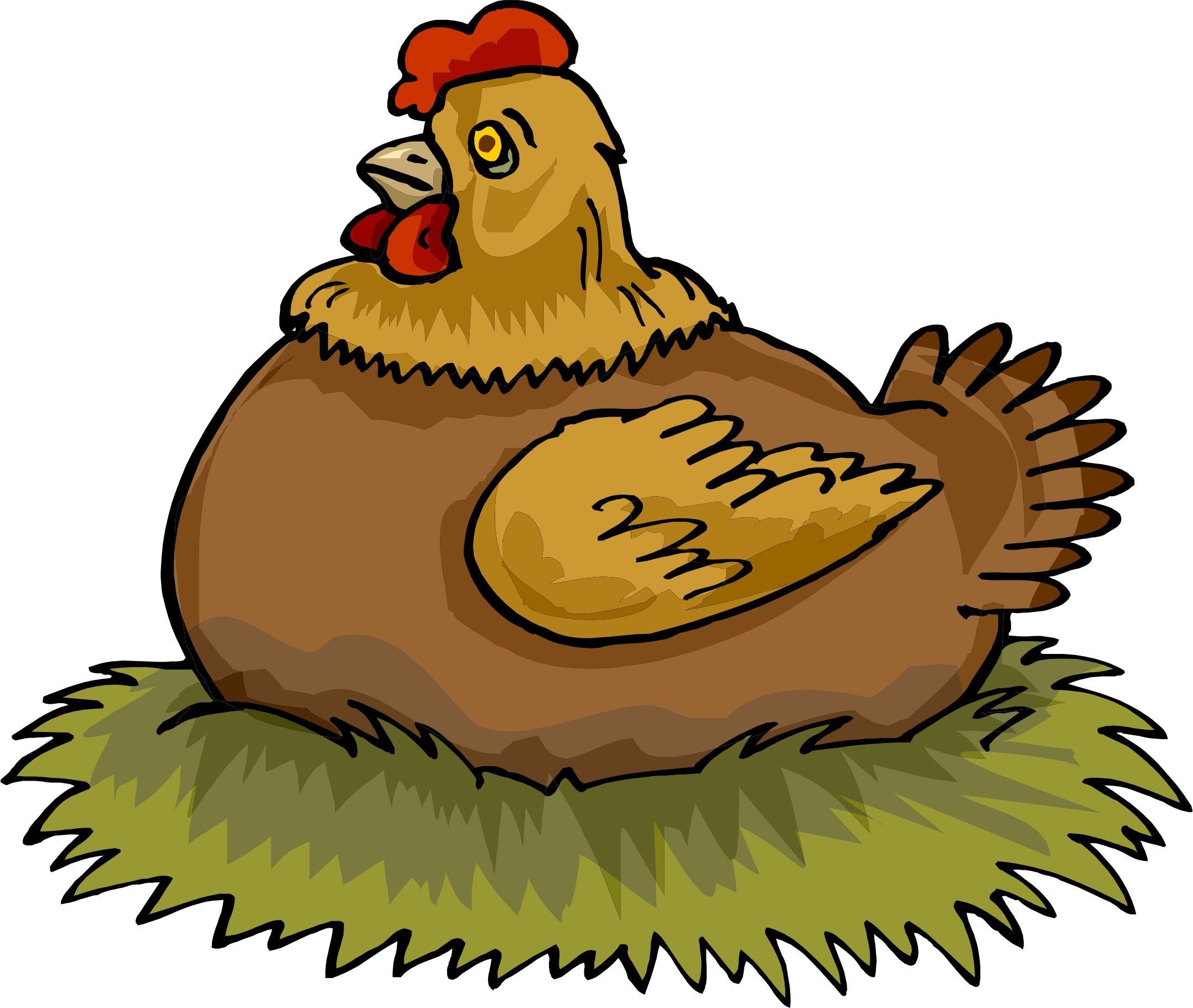 Hen On Nest Clipart | Nursery rhymes preschool, Illusion ...