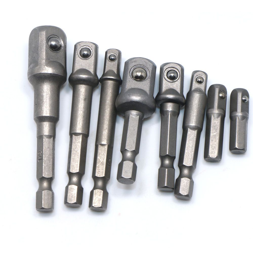 8 Sizes Socket Adapter Power Set Hex Shank To 1 4 3 8 1 2 Extension Drill Bit 690117074683 Ebay Drill Bits Drill Power Tool Accessories