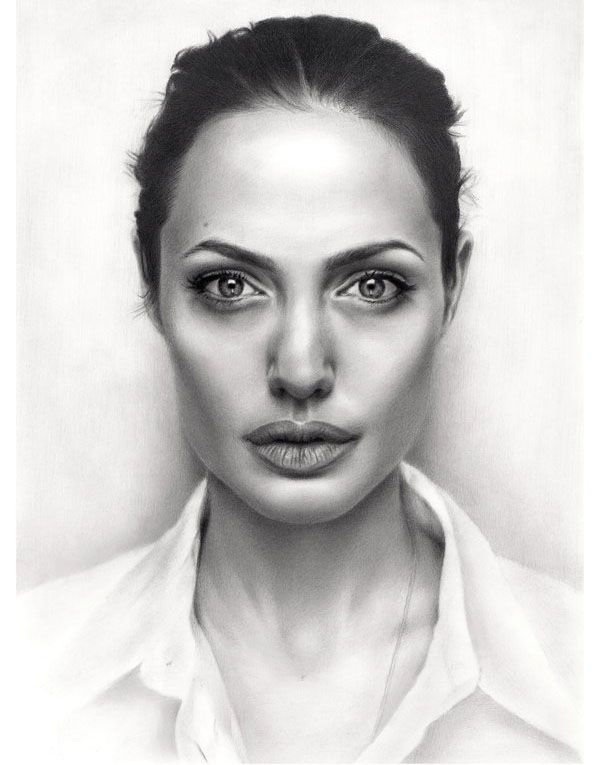 Portrait drawing angelina jolie sikoian http webneel com 30 realistic pencil drawings and drawing tips beginners design inspiration http webneel com