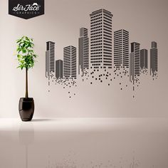 Urban Wall Decal - Office Wall Decal - Wall Graphics - Vinyl Wall Sticker