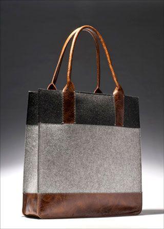 3a49d143fefe Graf-Lantz wool felt and leather tote love
