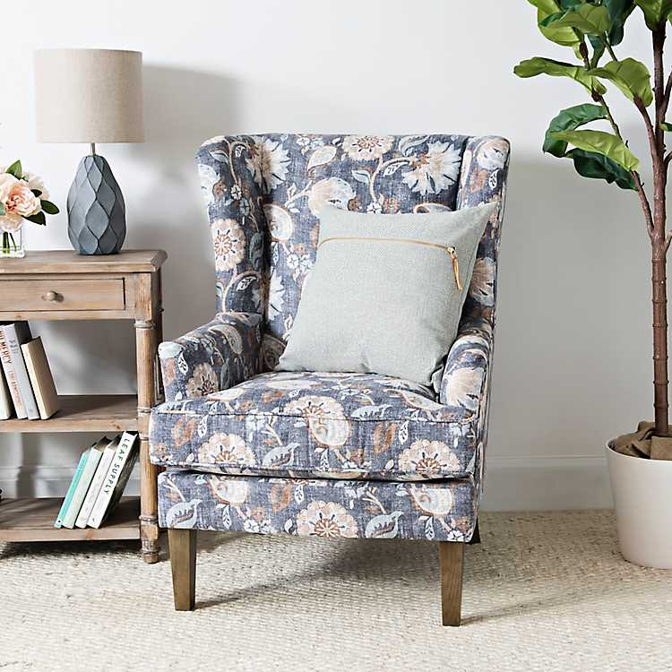 Best Blue Floral Wingback Accent Chair Wingback Accent Chair 400 x 300