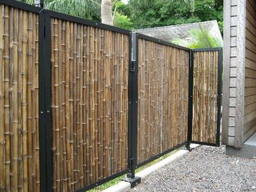 Black Bamboo Fencing Tropical Fencing Other Metro By