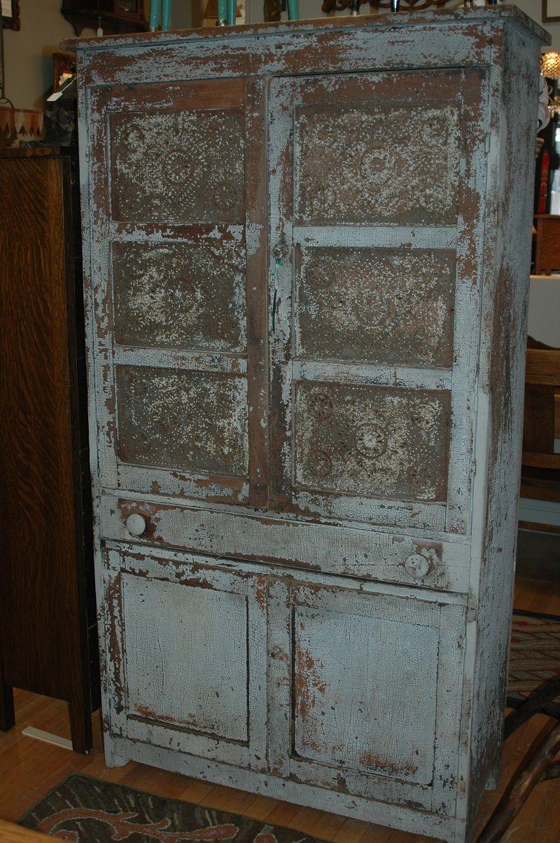 ornate primitive decor of the late 1800's   Merchandise > Storage >  Primitive Pie Safe   - Ornate Primitive Decor Of The Late 1800's Merchandise > Storage