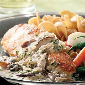 Chicken with chardonnay cream sauce