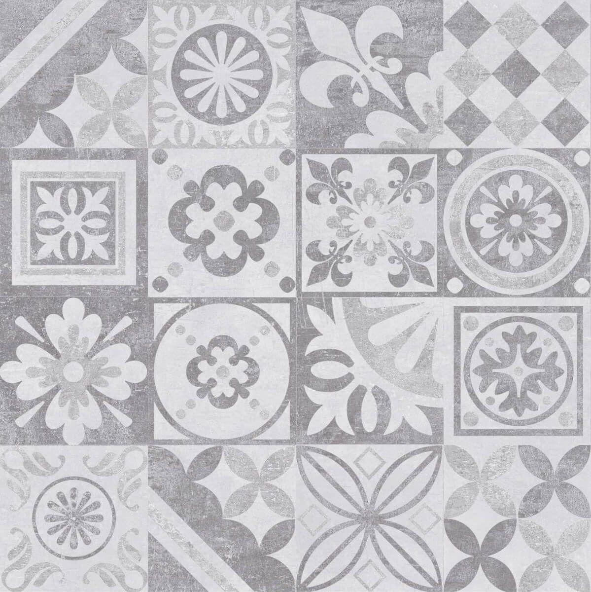 Płytka Podłogowa Estra Grafit Dekor Lappato 60x60 Ceramika Limone