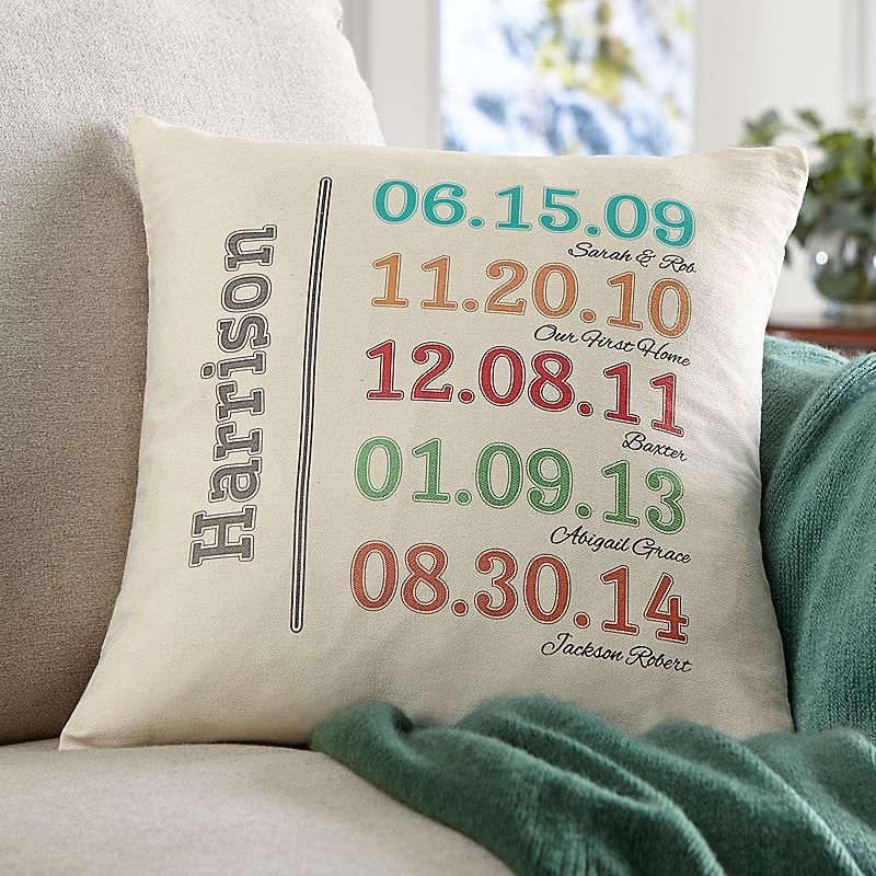 Fun Family History Throw Pillow Personalized Family Gifts