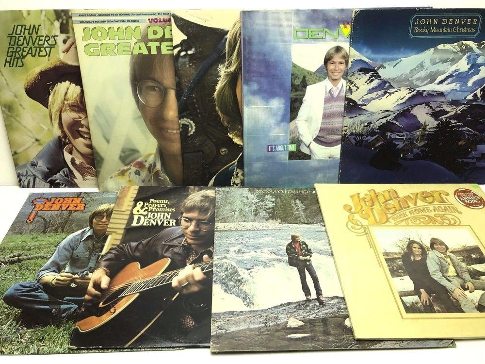 John Denver LP Vinyl Record Album Lot: Back Home Again + Rocky ...