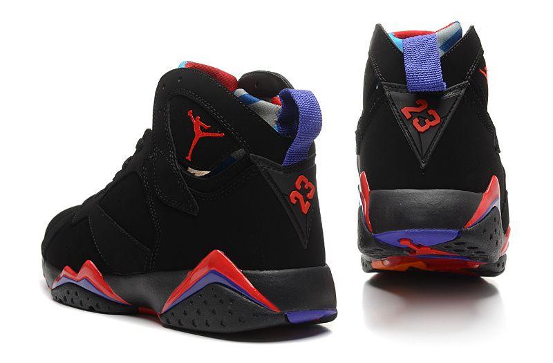 new styles 7a22e b94f7 Air Jordan 7 Black/True Red-Dark Charcoal-Club Purple ...