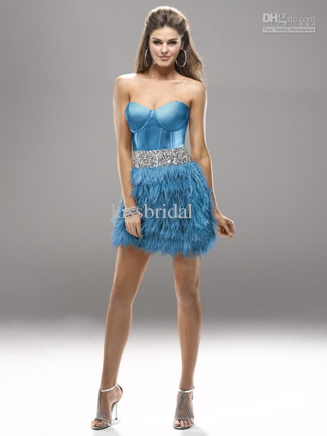 Feather Bottom Short Prom Dress Love This Prom Pinterest