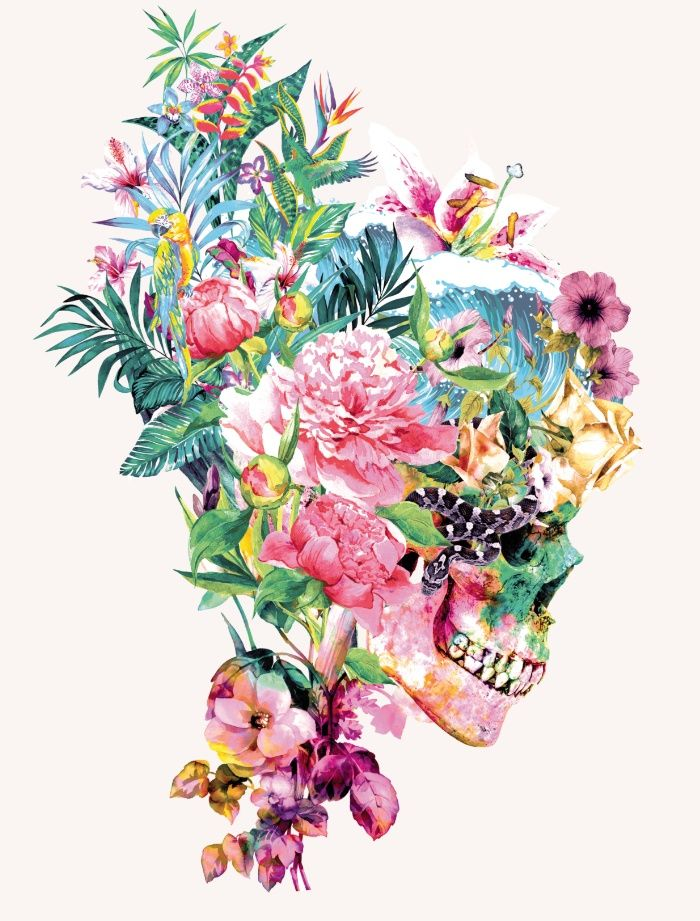 SKULL VI Art Print by RIZA PEKER #skull #collage #wild # ...
