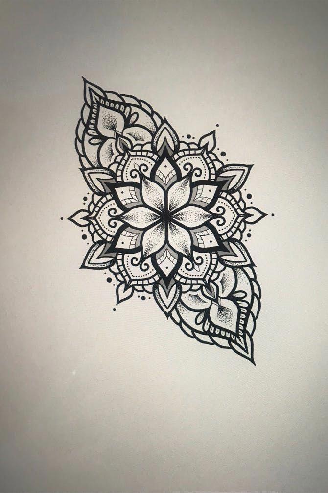 Awesome Tattoos Mandalatattoo In 2020 Mandala Flower Tattoos Geometric Tattoo Mandala Foot Tattoo