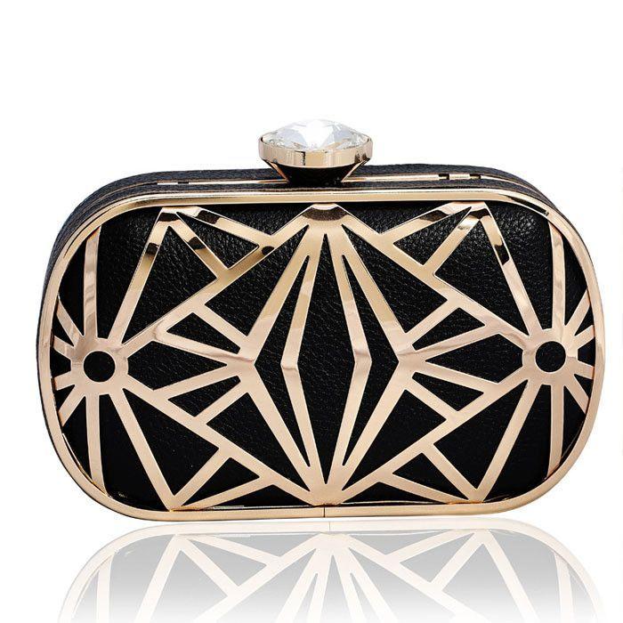Fashion Gold Evening Clutch Bag Women Rhinestone Dinner Day Clutches Handbag Brand Hard Briefcases Golden/Black/Silver Mini Bag