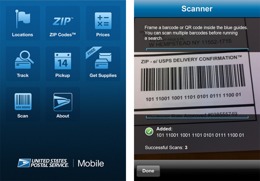 The USPS iPhone app allows users to easily track shipments