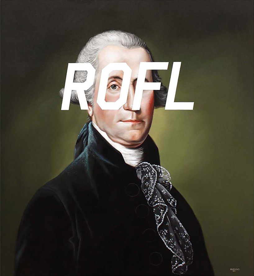 shawn huckins: twitter and sms 18th century portrait paintings