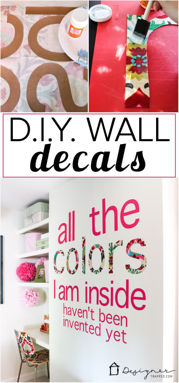 Diy custom wall decals that will make you swoon diy