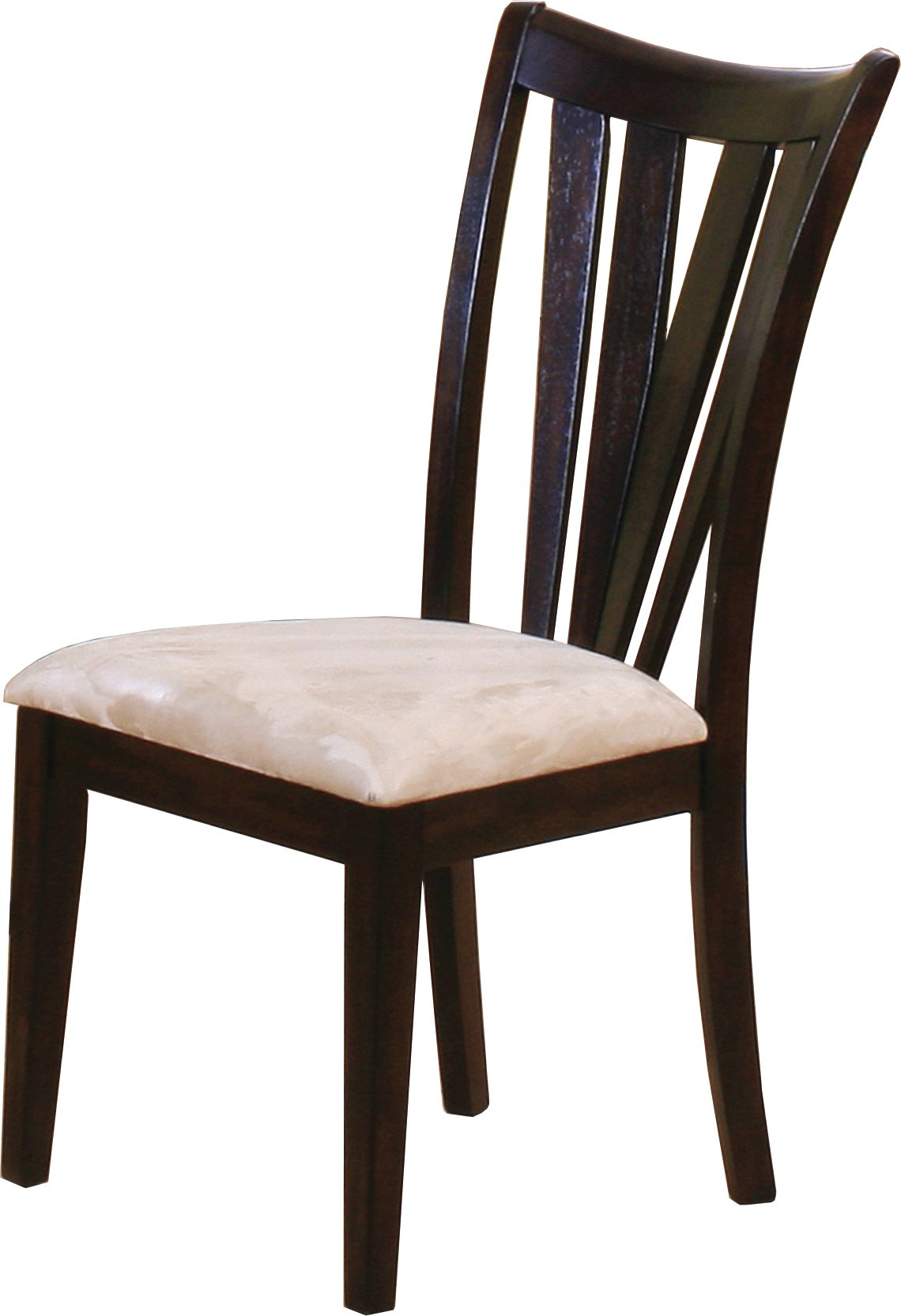Casual Dark Brown Dining Room Chair Set Of 2 Angus Side