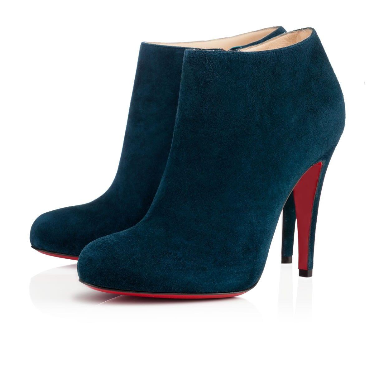 louboutin bottines bleues