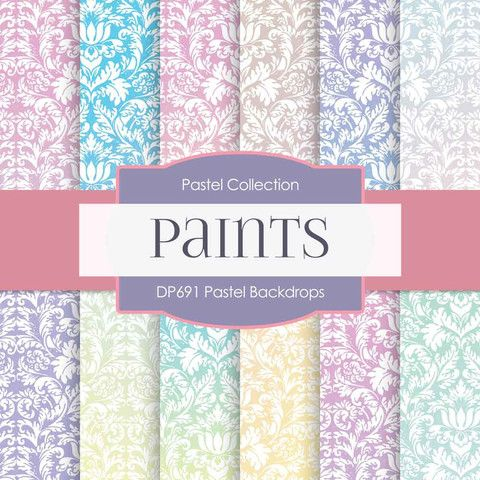 Pastel Backdrops Digital Paper DP691 - Digital Paper Shop - 1