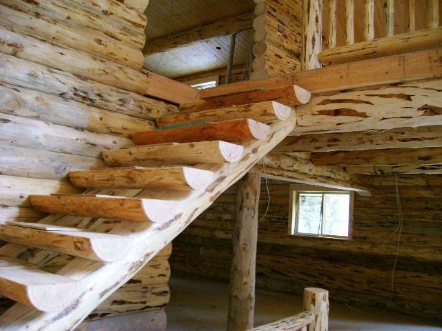Best Log Stairways Rustic Staircase Rustic Stairs Wood Steps 400 x 300