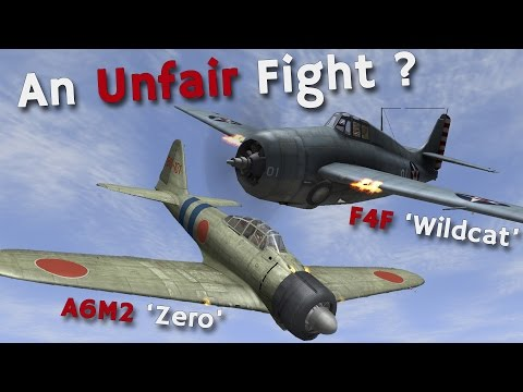 A6M2 'Zero' vs F4F 'Wildcat' - An Unfair Fight in the Pacific? - YouTube