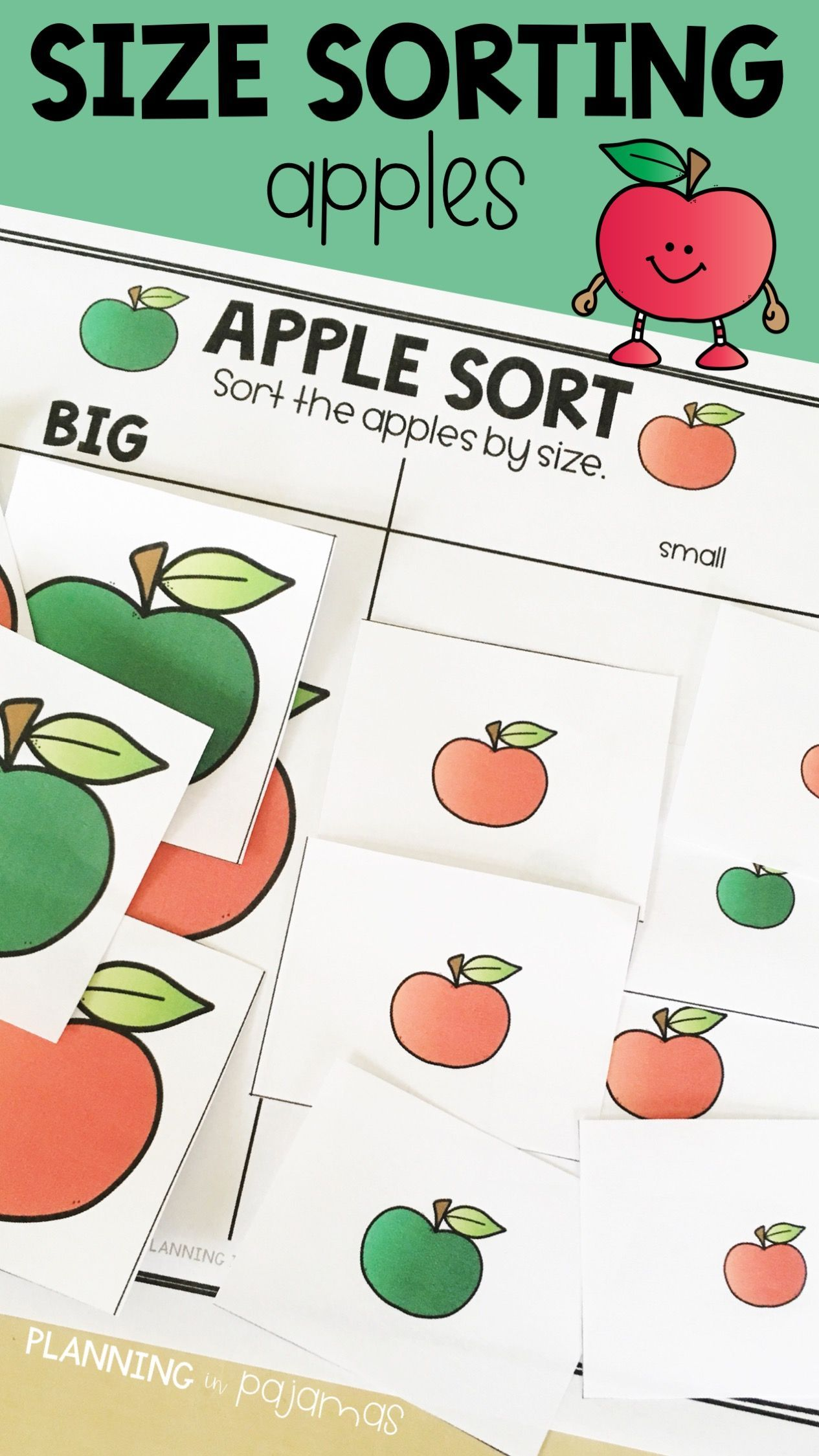Apple Sort By Size - Big and Small | Primary skills | Pinterest ...
