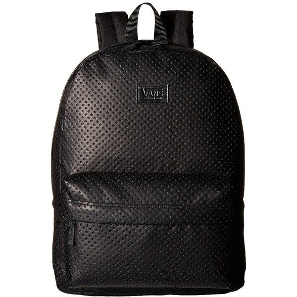 c08ce487b7 Vans Cameo Backpack ((Perforated Stars) Black) Backpack Bags ( 55) ❤ liked  on Polyvore featuring bags