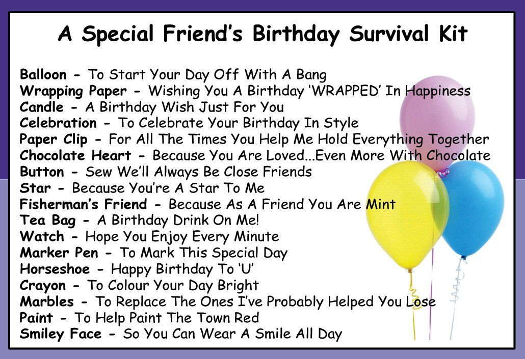 friendship survival kit such a great idea and will only cost a