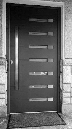 Puerta de entrada batiente   de aluminio   para instalación