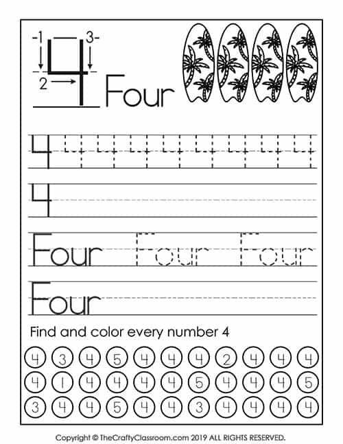 Free Number Worksheets. Students work on preschool math ...