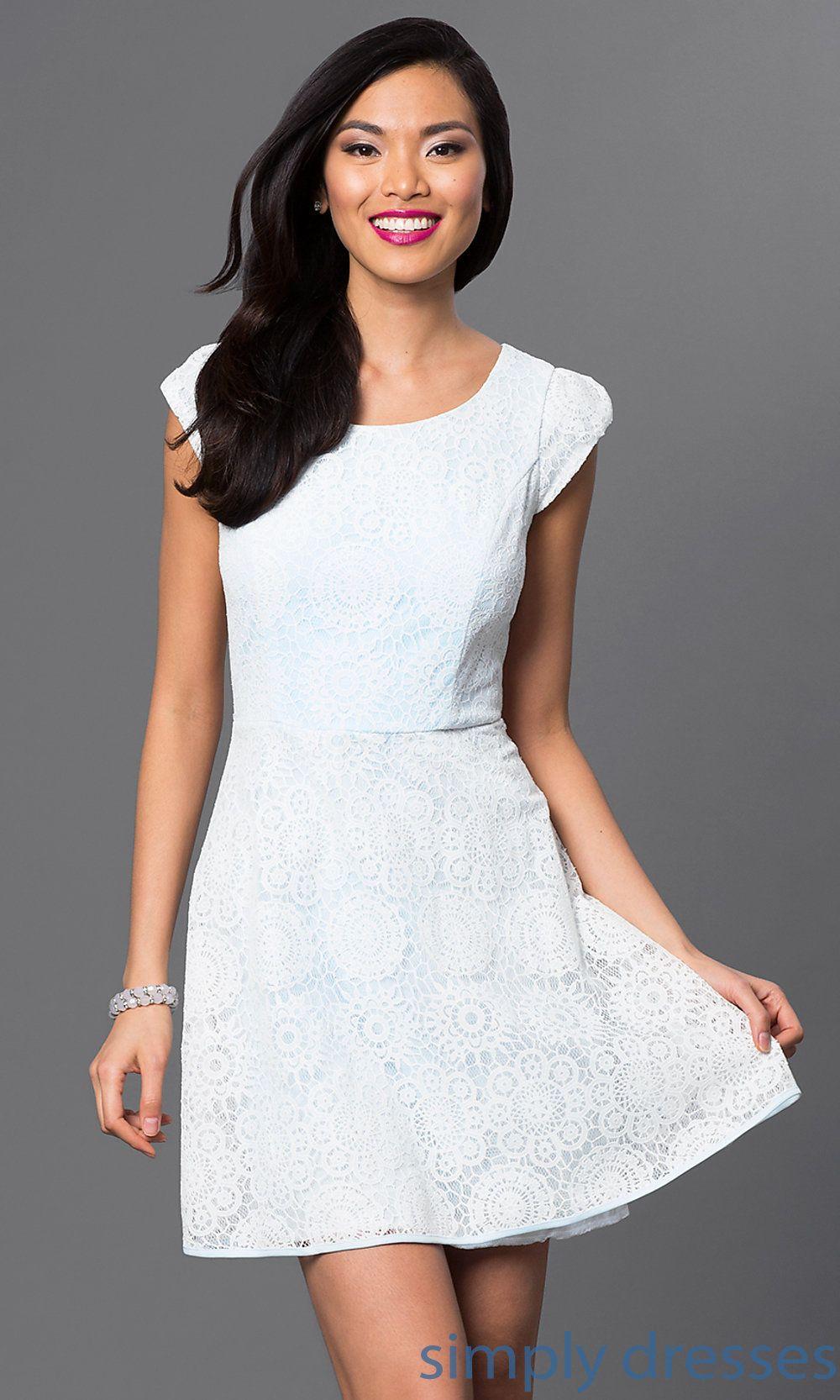 Short cap sleeve emerald sundae lace dress emdhc