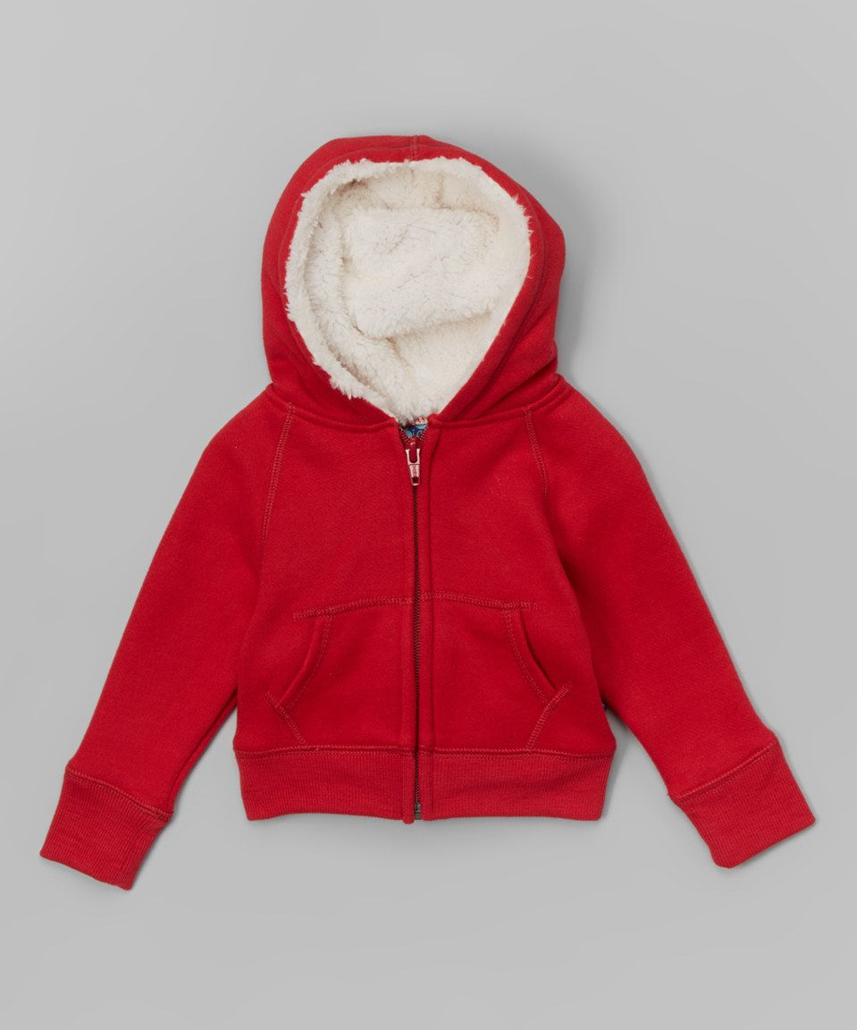 6ec0b9d18 Love this Brick Sherpa-Lined Hoodie - Infant, Toddler & Boys by KicKee Pants  on #zulily! #zulilyfinds