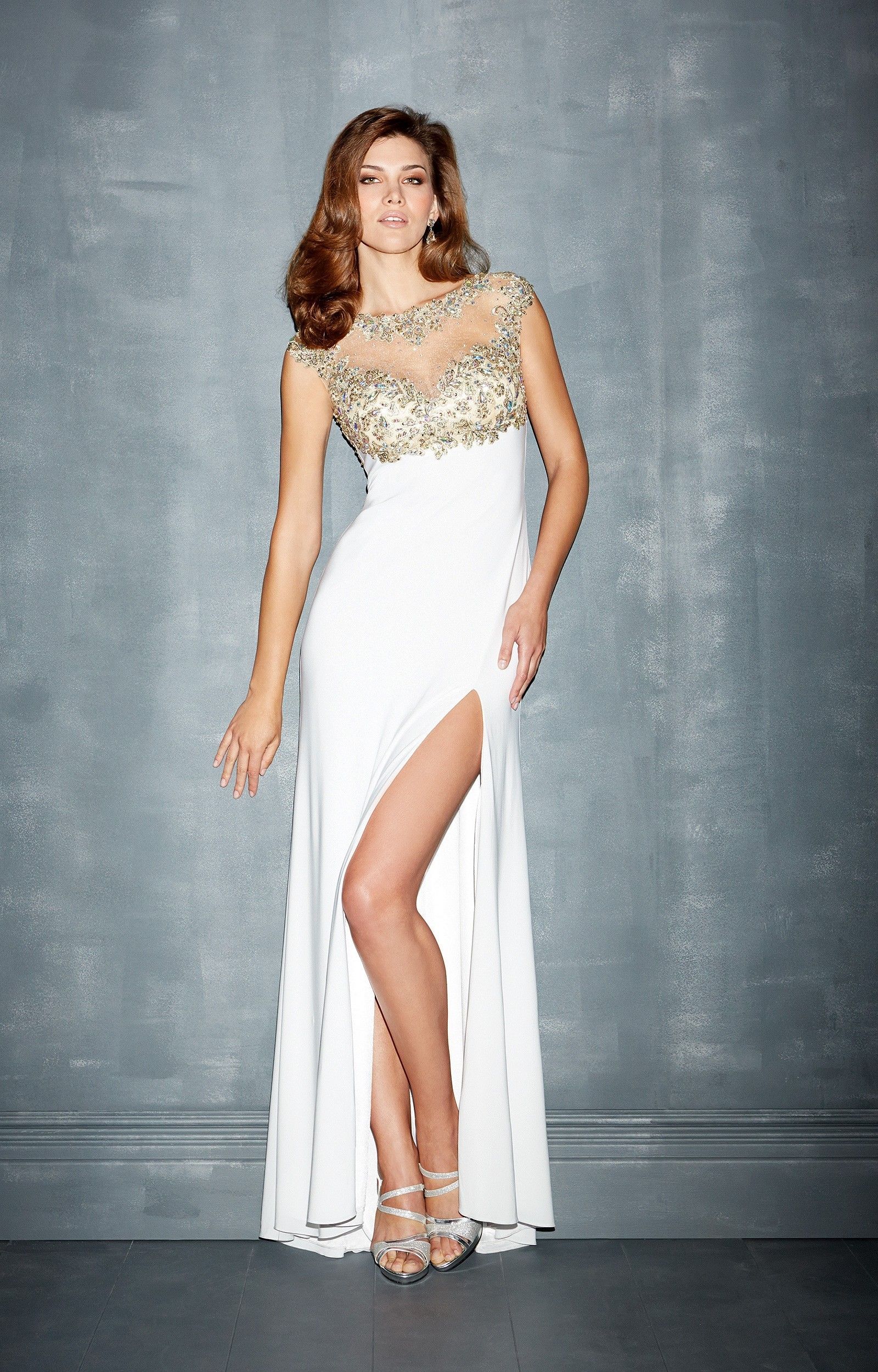 Madison james 7001 26999 madison james httpintroclassy brighten the night up in nightmoves by allure sheer top is adorned with glitzy beads and covers the bust this luxurious evening gown features a bateau ombrellifo Images