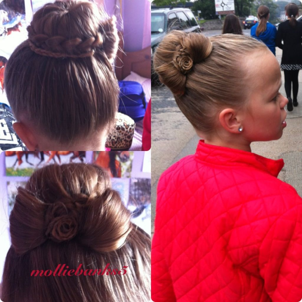 Braided bun with bow victoriaus hair style pinterest hair style