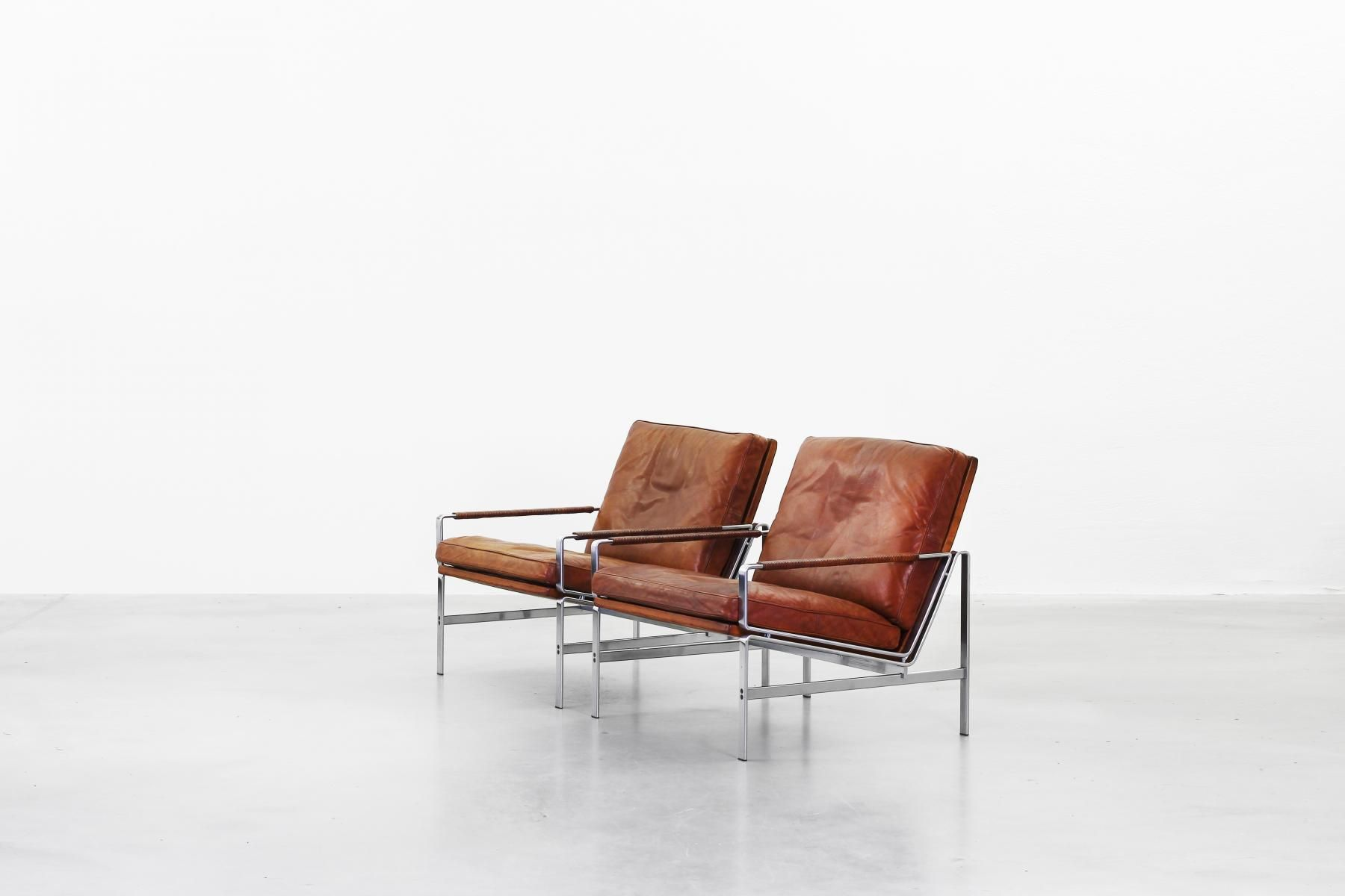 Lounge Chairs by Preben Fabricius & Jørgen Kastholm for Kill International, 1968, Set of 2 3