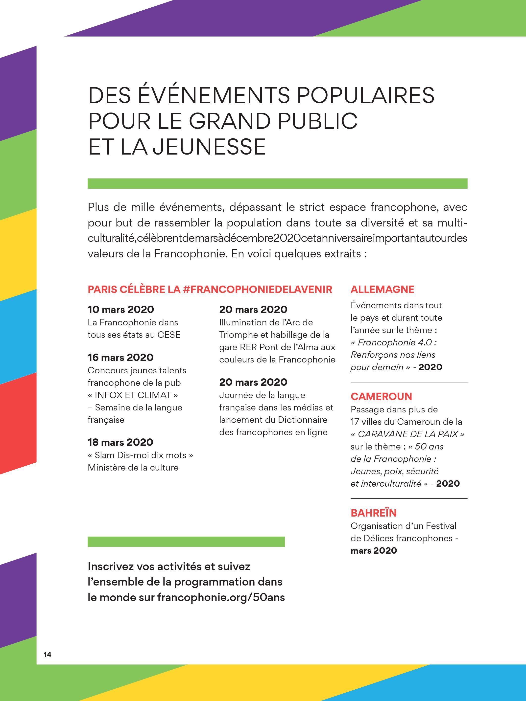 Journee De La Francophonie 2020 La Francophonie Fete Ses 50 Ans Apprendre Le Francais Ma Journee Langue Francaise