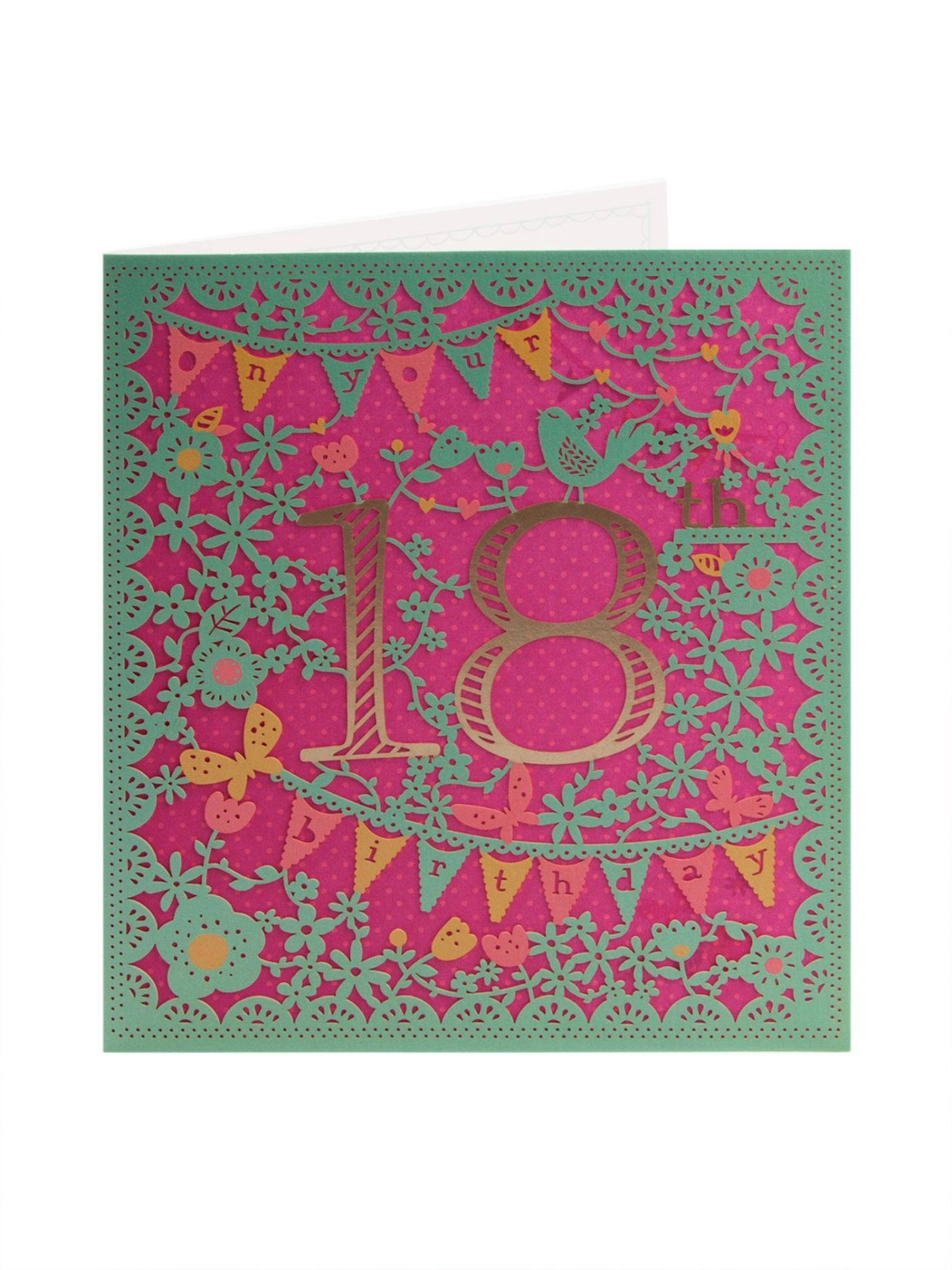 Laser Cut 18th Birthday Card Clintons paper cutting