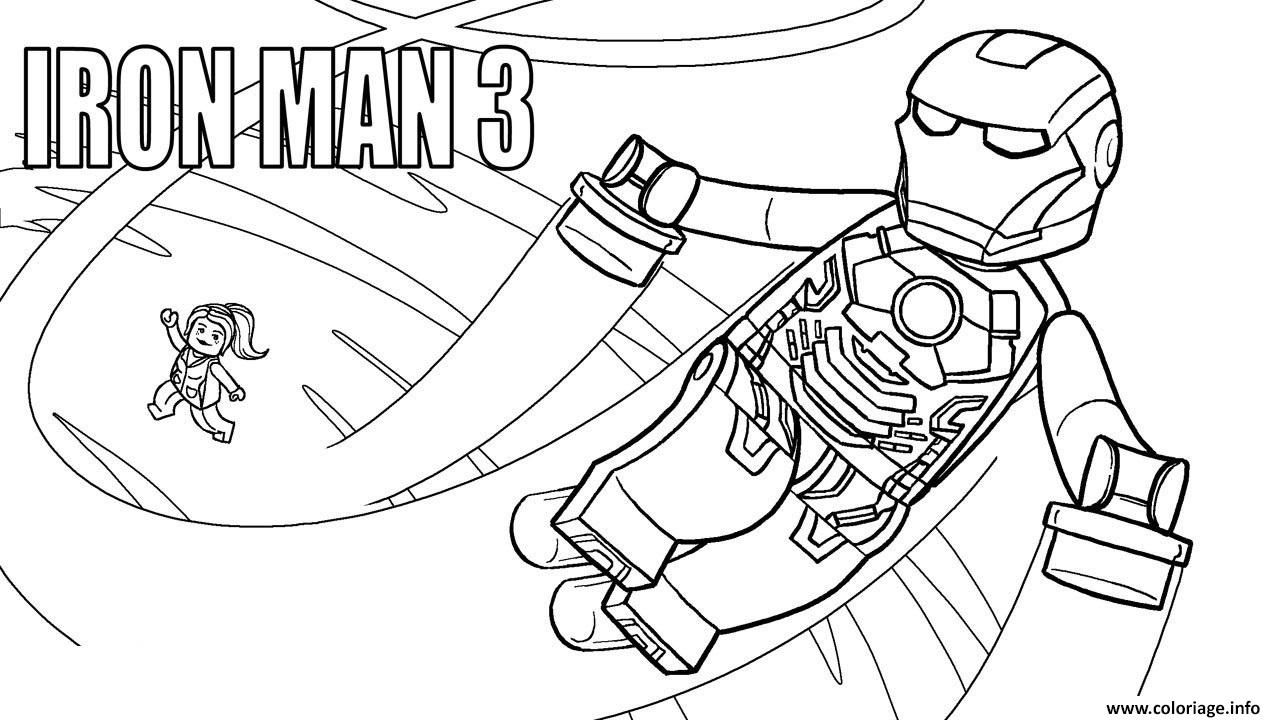 Coloriage Lego Marvel Iron Man 3 Dessin à Imprimer Birthday Party