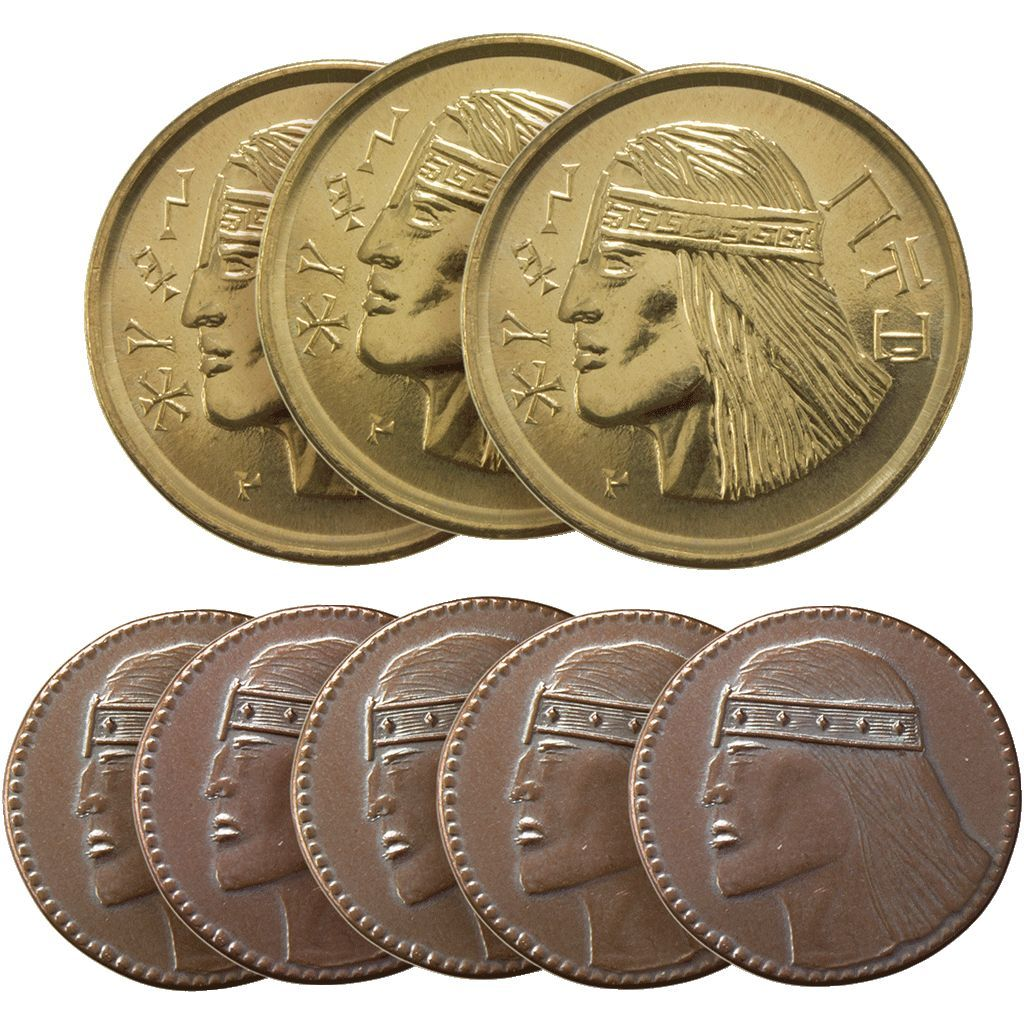 Aquilonian set of eight gaming coins products
